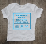 Shirtje remove baby before washing