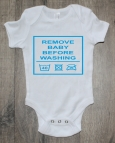 Rompertje remove baby before washing